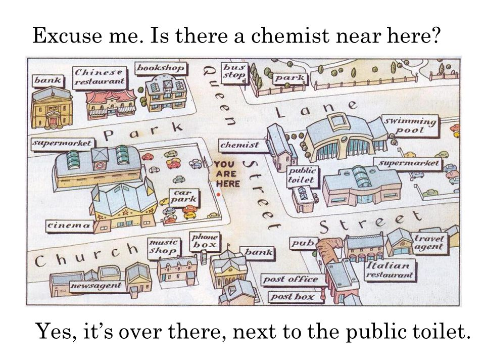 Excuse me. Is there a chemist near here