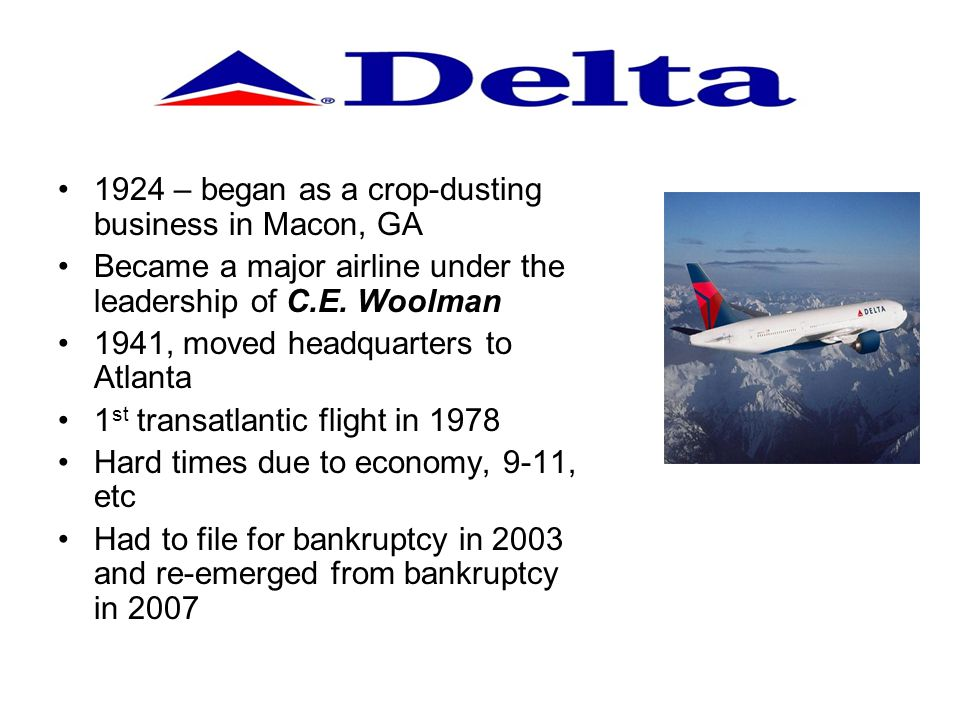1924 – began as a crop-dusting business in Macon, GA