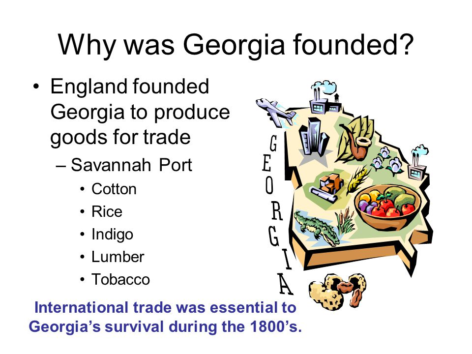 Why was Georgia founded