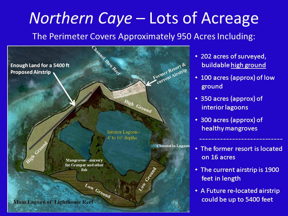 Northern Caye – Lots of Acreage