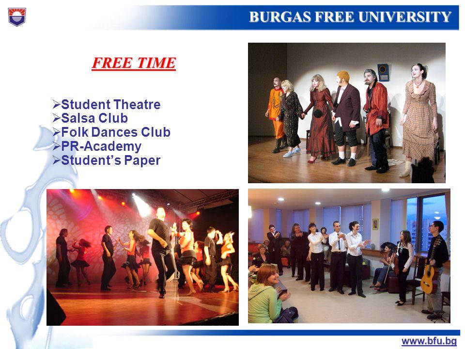 FREE TIME Student Theatre Salsa Club Folk Dances Club PR-Academy