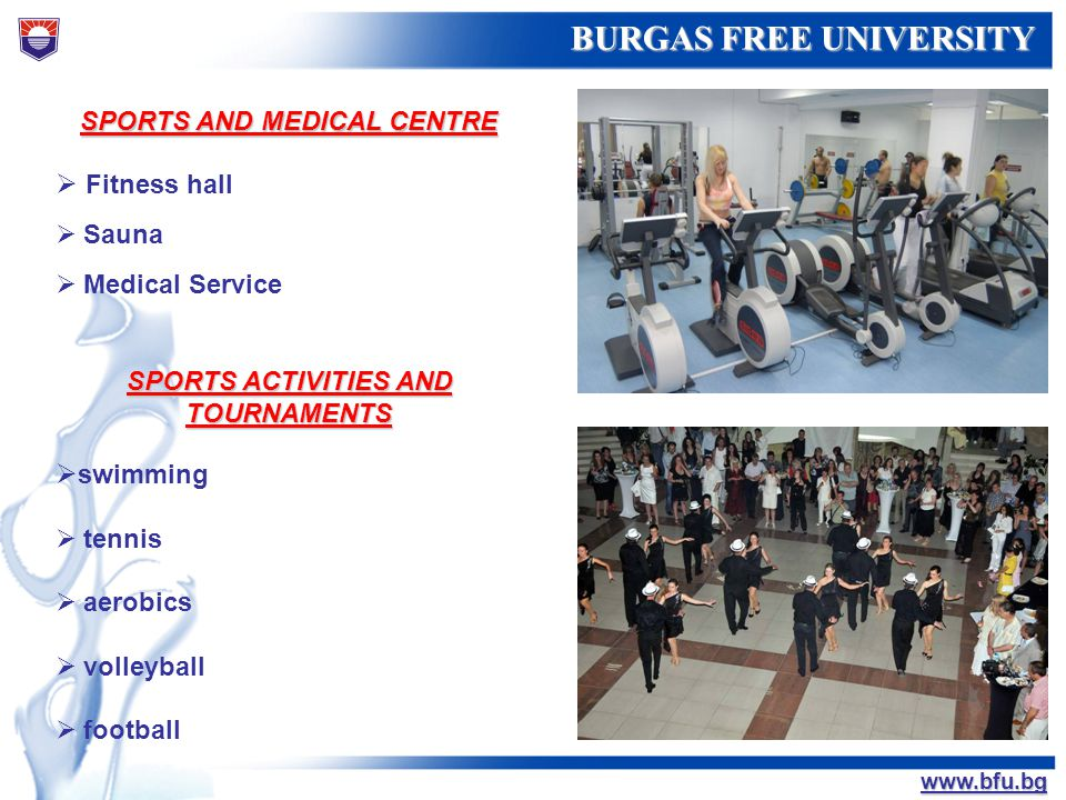 SPORTS AND MEDICAL CENTRE SPORTS ACTIVITIES AND TOURNAMENTS