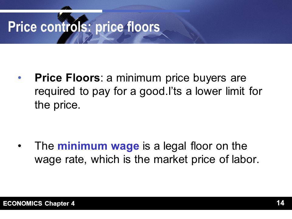 Price controls: price floors