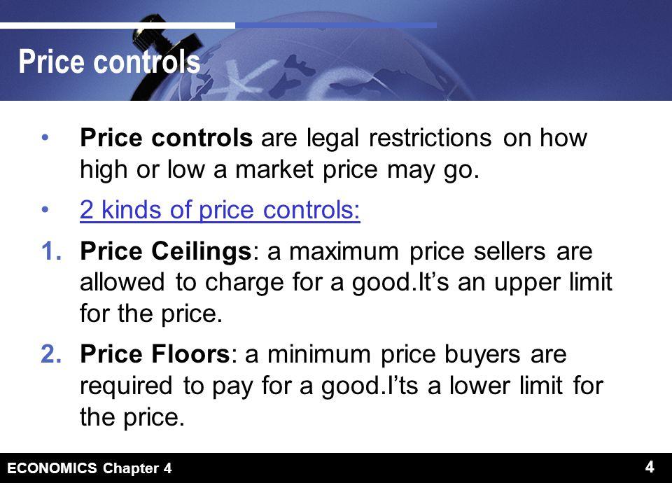 Price controls Why Price controls
