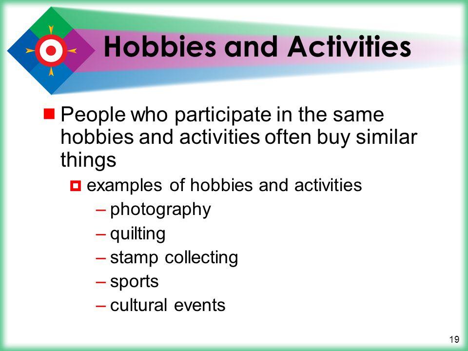 Hobbies and Activities