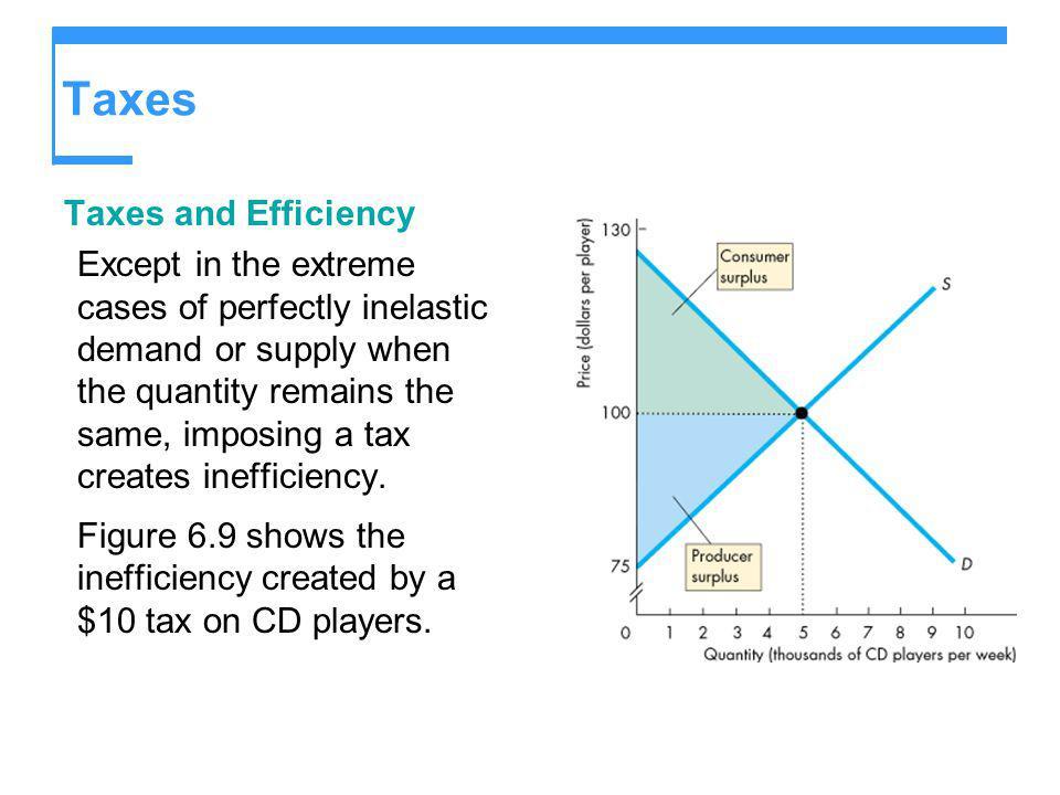 Taxes Taxes and Efficiency