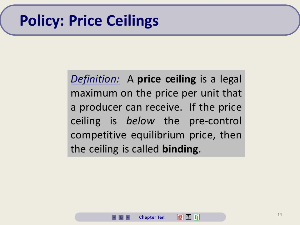 Policy: Price Ceilings