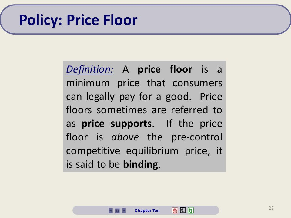 Attractive Policy: Price Floor