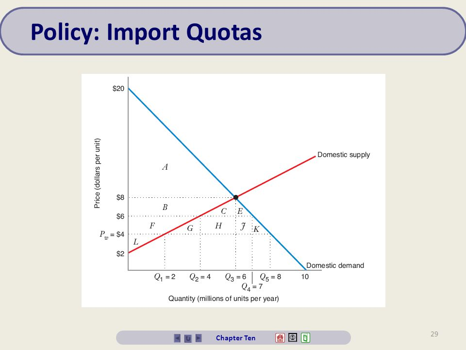 Policy: Import Quotas Chapter Ten