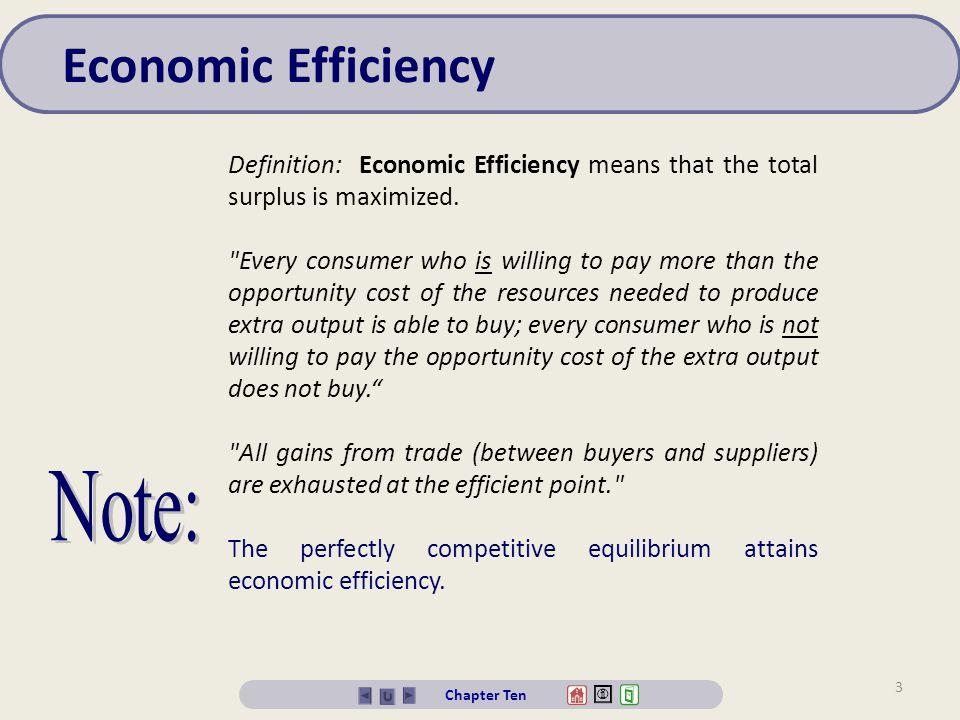 Economic Efficiency Note: