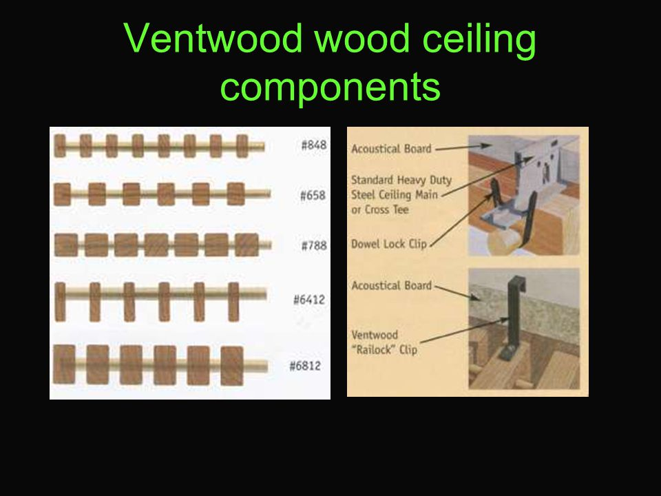 Ventwood wood ceiling components