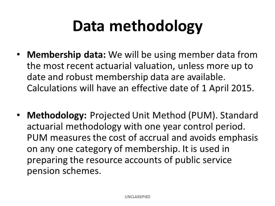 Data methodology
