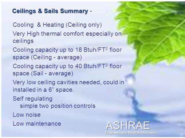 Ceilings & Sails Summary -