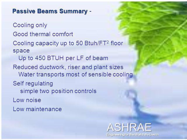 Passive Beams Summary -