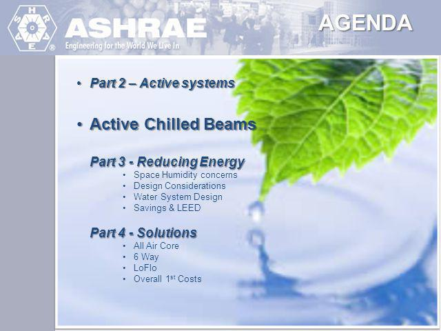 AGENDA Active Chilled Beams Part 2 – Active systems