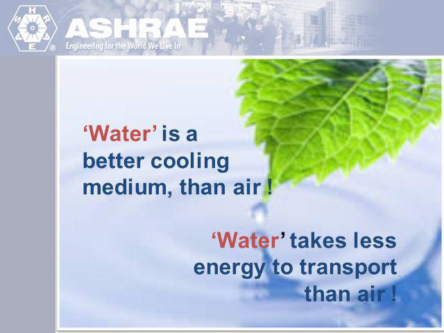 'Water' is a better cooling medium, than air !