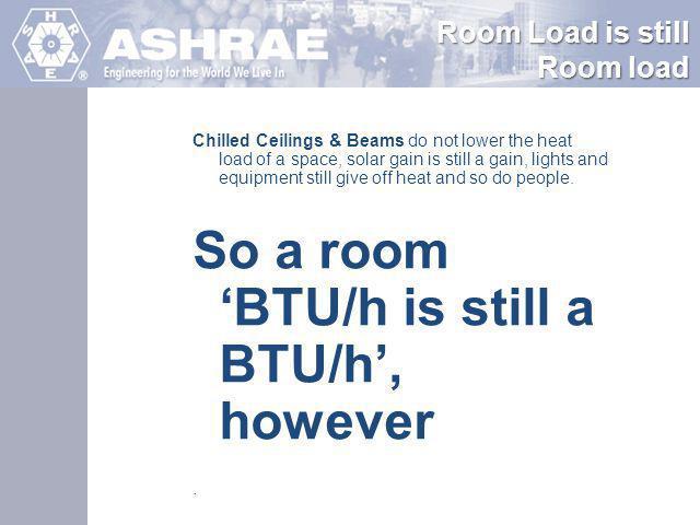 So a room 'BTU/h is still a BTU/h', however