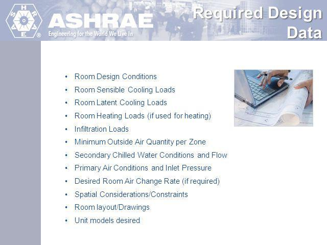 Required Design Data Room Design Conditions