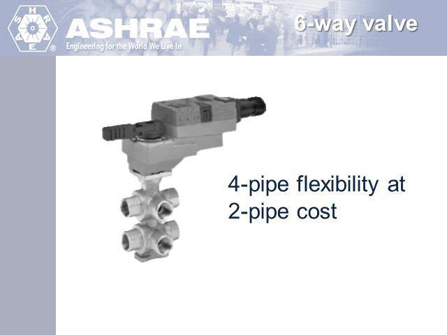 6-way valve 4-pipe flexibility at 2-pipe cost
