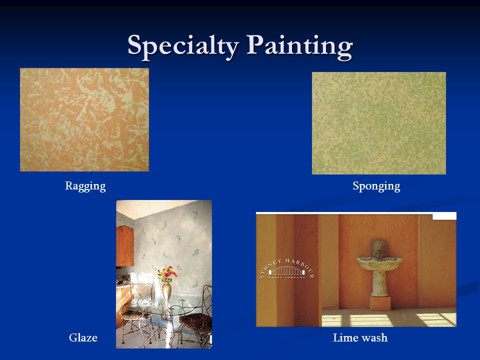 Specialty Painting Ragging Sponging Glaze Lime wash