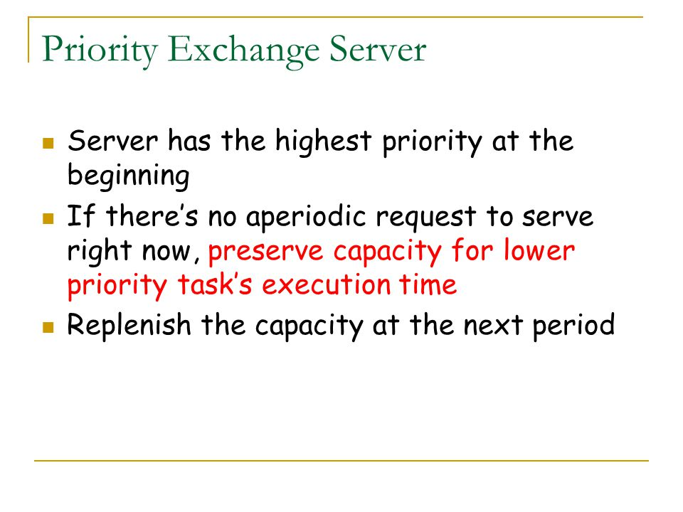 Priority Exchange Server