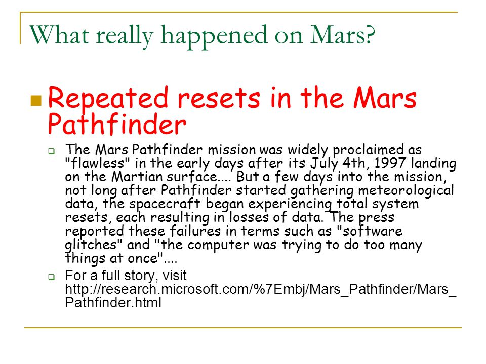 What really happened on Mars