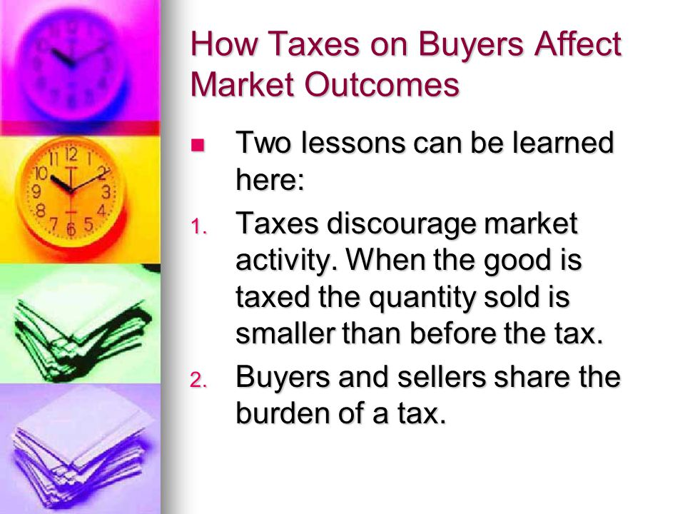 How Taxes on Buyers Affect Market Outcomes