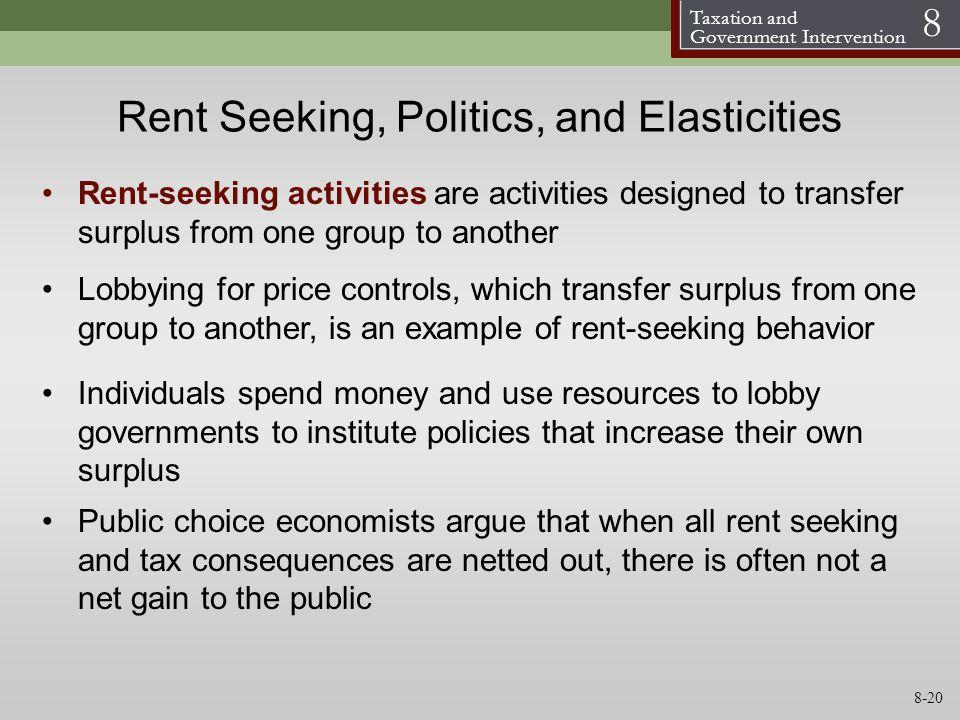 Rent Seeking, Politics, and Elasticities