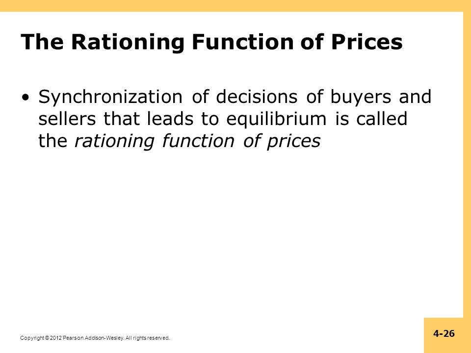The Rationing Function of Prices