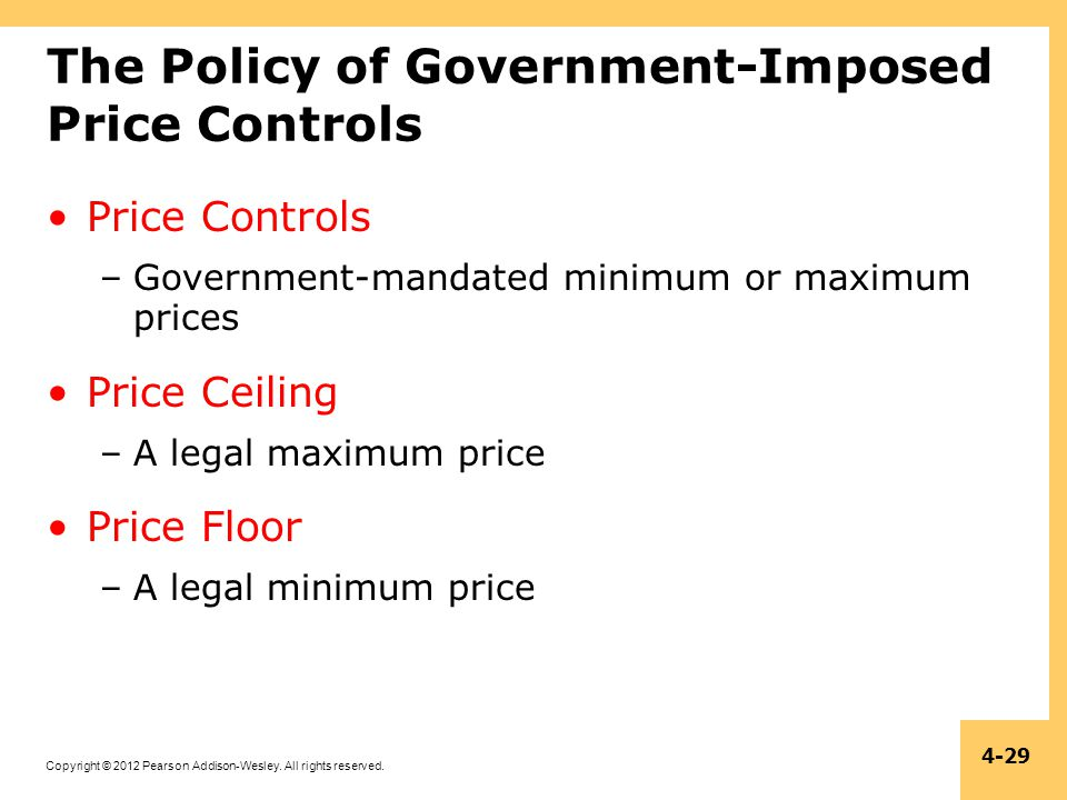 The Policy of Government-Imposed Price Controls
