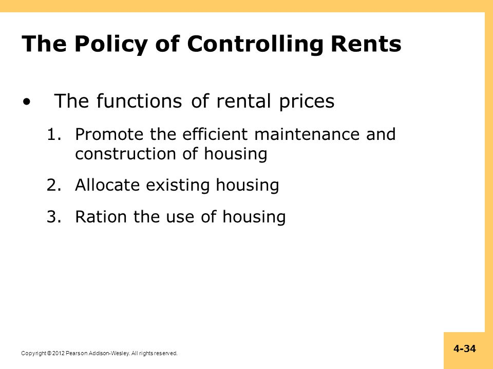 The Policy of Controlling Rents