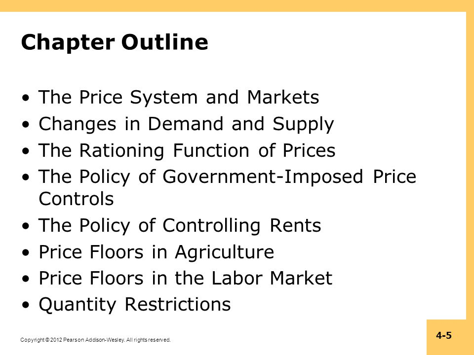 Chapter Outline The Price System and Markets