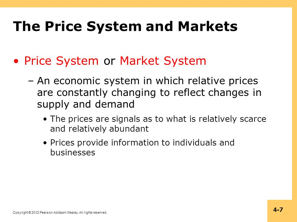 The Price System and Markets