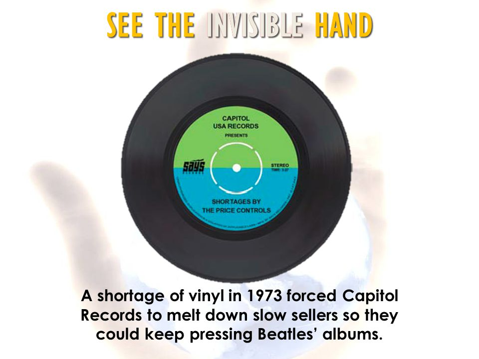 A shortage of vinyl in 1973 forced Capitol