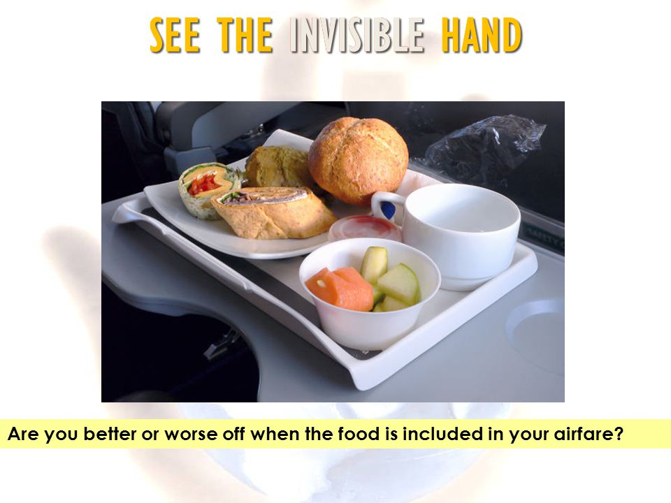 Are you better or worse off when the food is included in your airfare