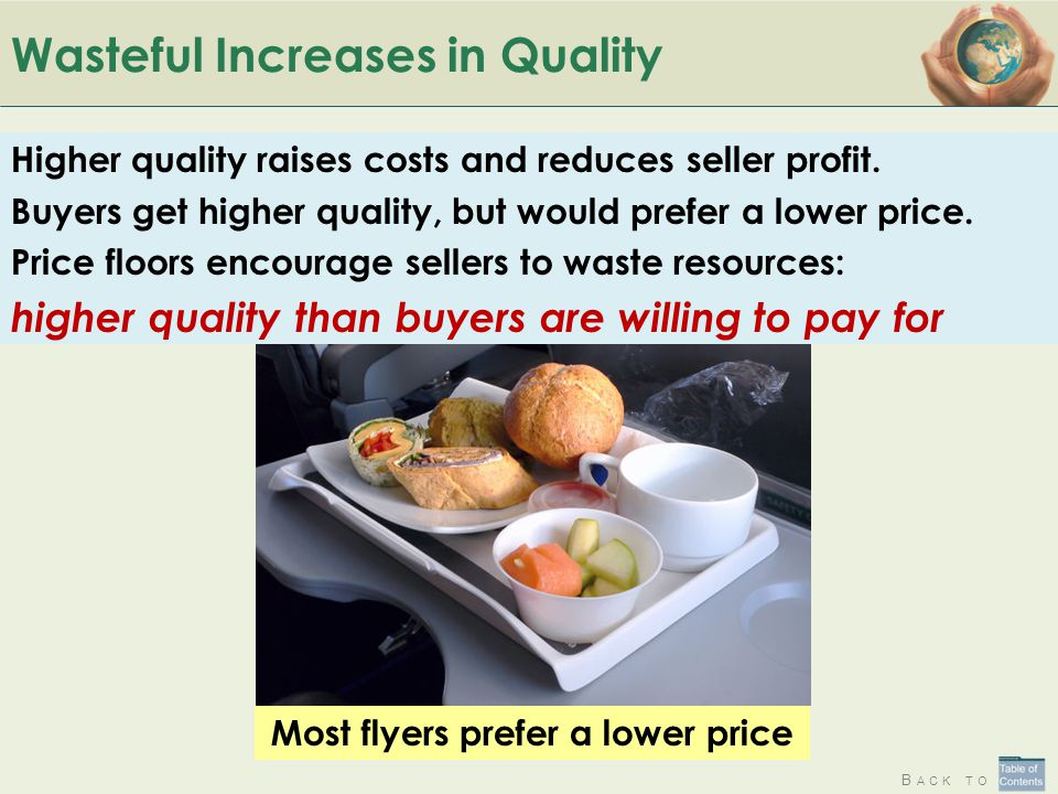 Wasteful Increases in Quality