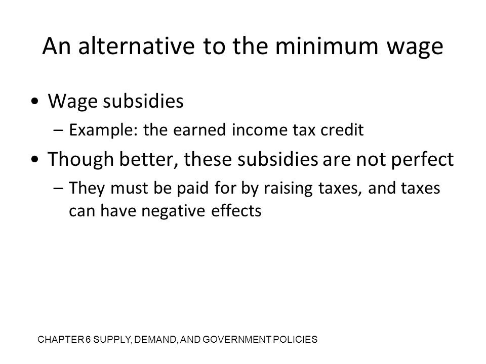 An alternative to the minimum wage