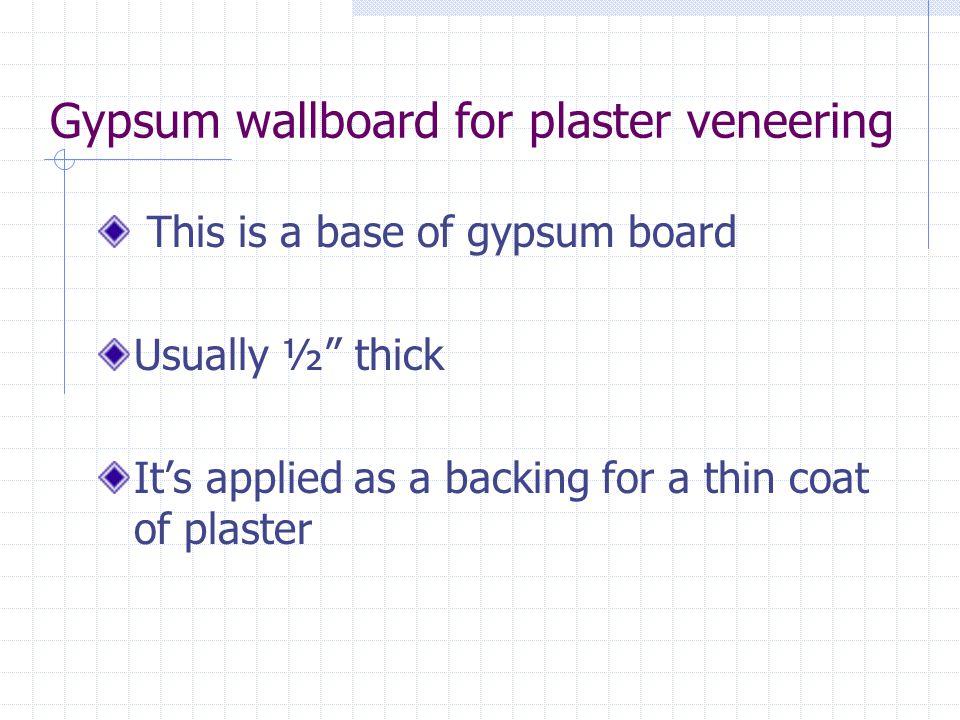 Gypsum wallboard for plaster veneering