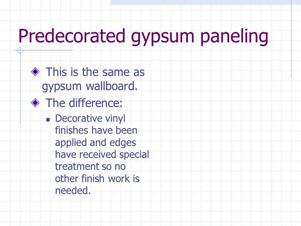 Predecorated gypsum paneling