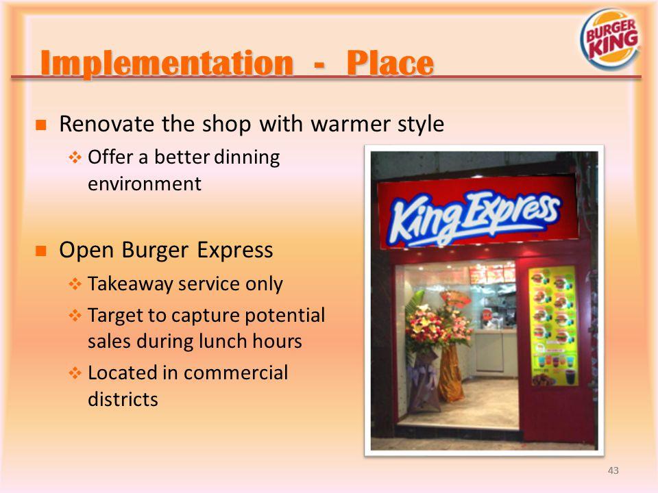 Implementation - Place