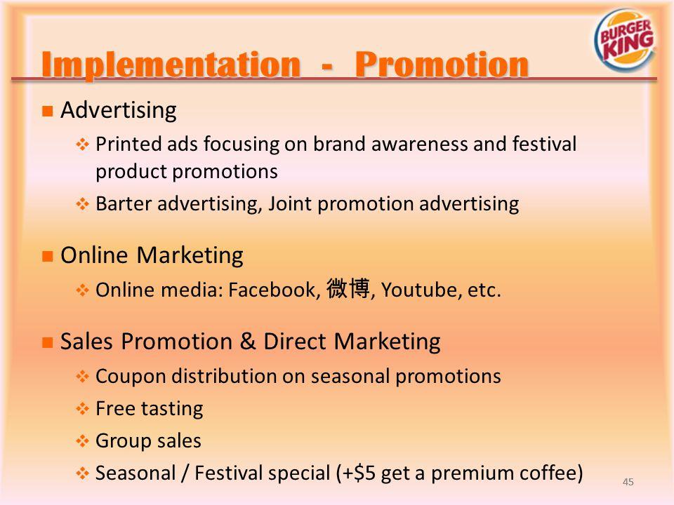 Implementation - Promotion