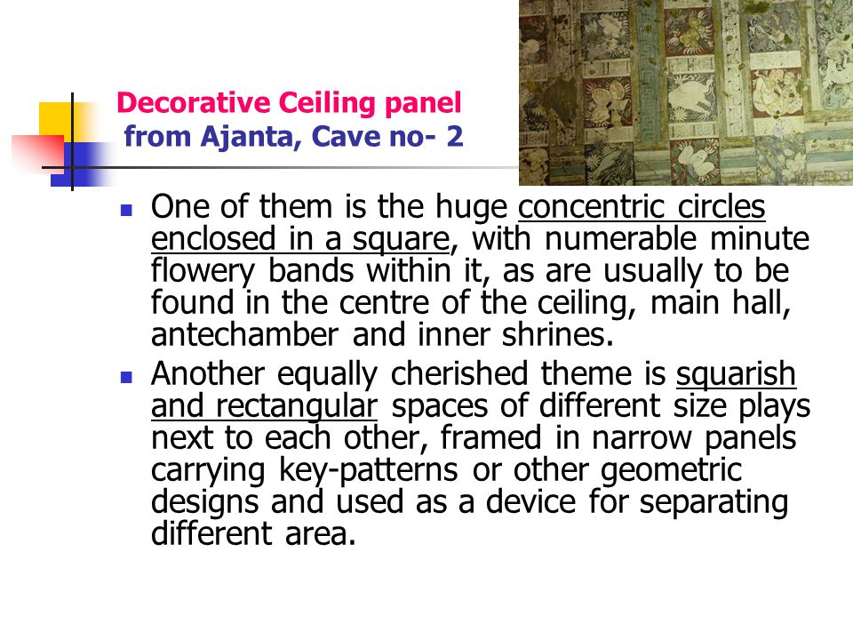 Decorative Ceiling panel from Ajanta, Cave no- 2