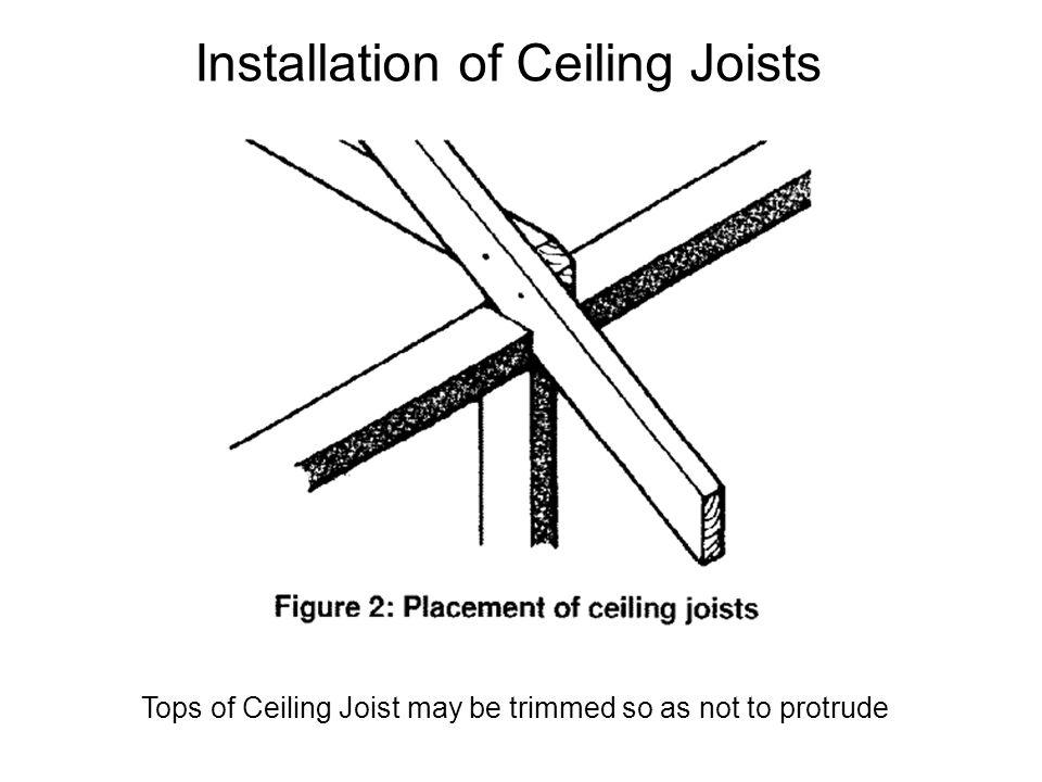 Installation of Ceiling Joists