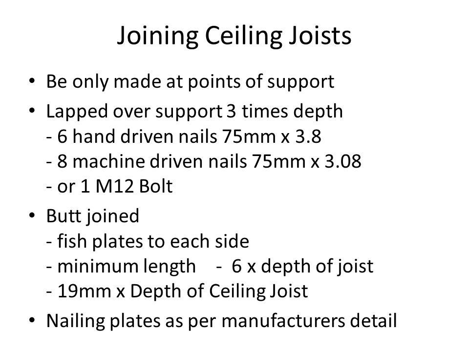 Joining Ceiling Joists