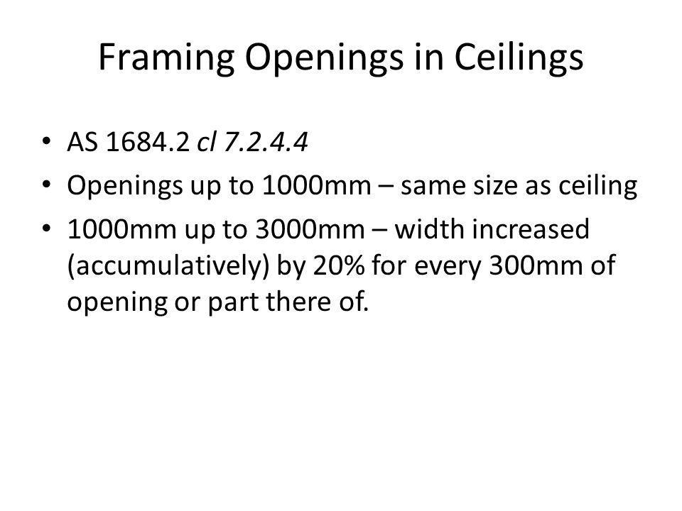 Framing Openings in Ceilings