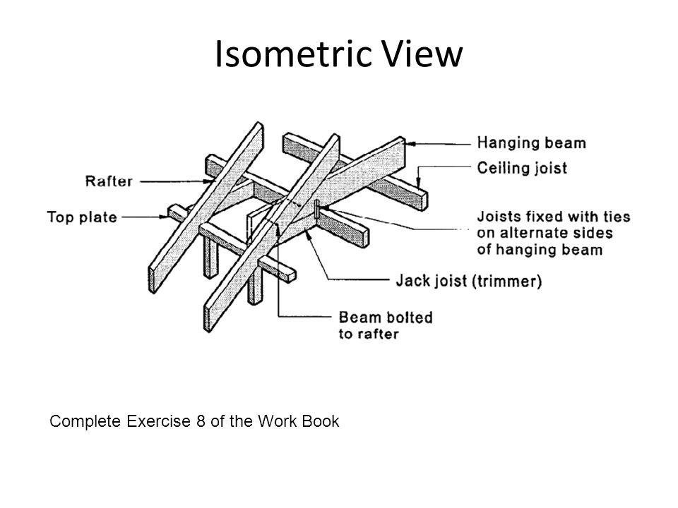 Isometric View Complete Exercise 8 of the Work Book