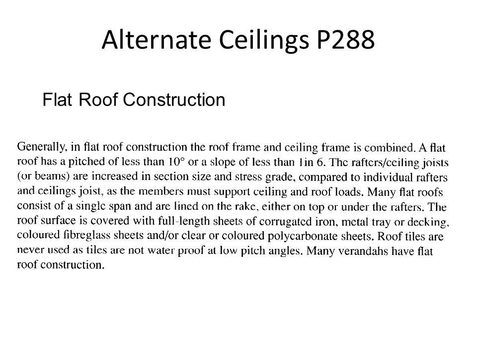 Alternate Ceilings P288 Flat Roof Construction