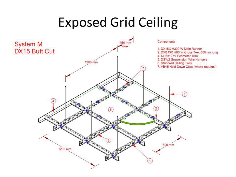 Exposed Grid Ceiling