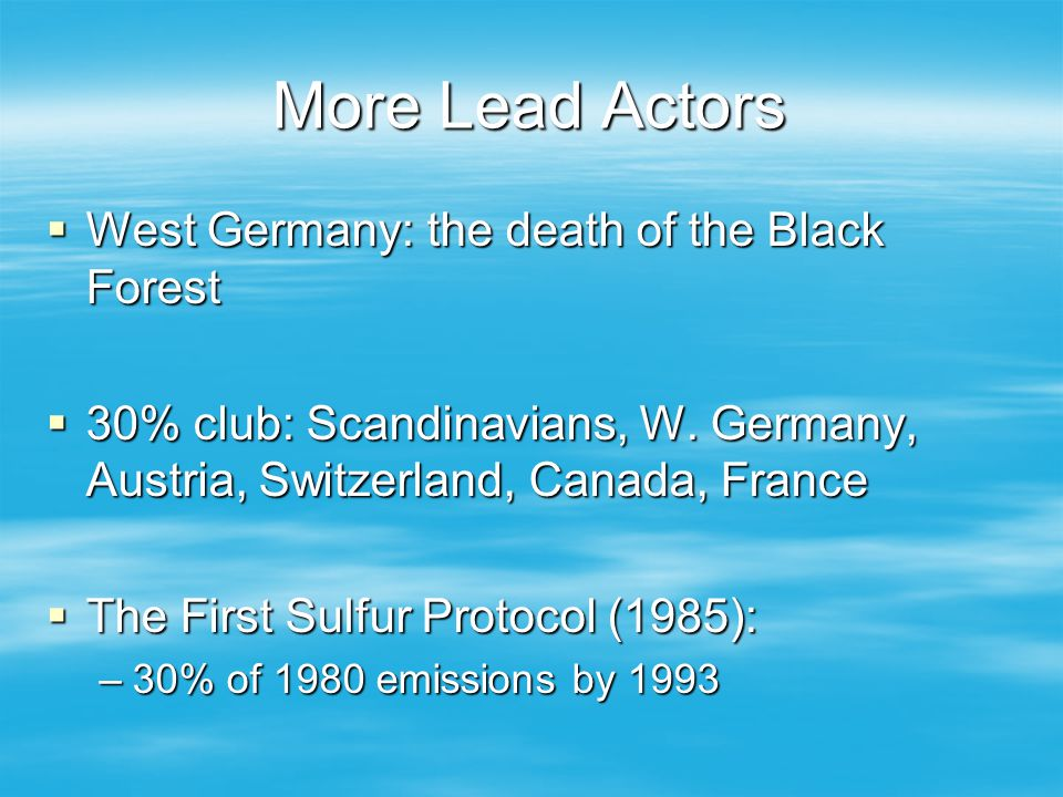 More Lead Actors West Germany: the death of the Black Forest