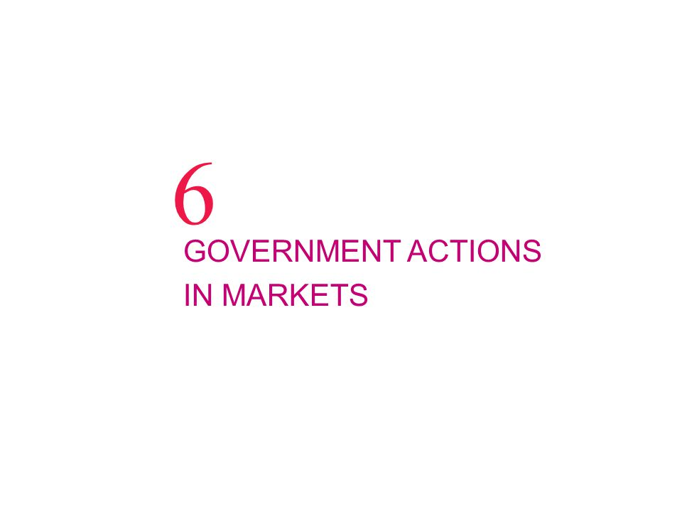 GOVERNMENT ACTIONS IN MARKETS